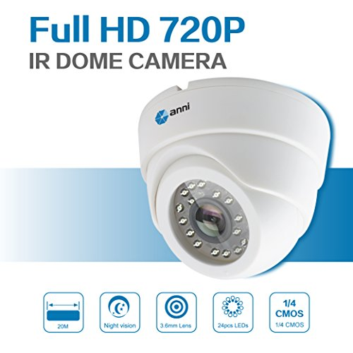 "Anni Tag & Night Vision 720p AHD 1500TVL 1/4"" CMOS IR Indoor Security Dome-Kamera mit 3.6mm 24 LEDs CCTV Surveillance Security"
