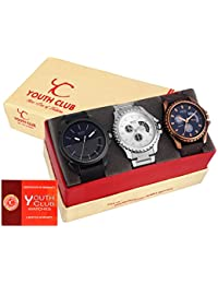 YOUTH CLUB Analogue Multi-Colour Dial Men's & Boy's Combo Of Watch(Smb57)