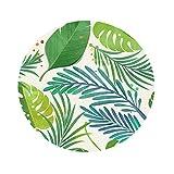 Homyl Tischdecke rund Tischtuch aus Polyesterfaser Esstisch Gartentisch Tischwäsche, 140x140cm - 7. Blätter