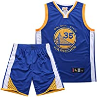 BUY-TO Camiseta de Baloncesto Guerrero 35 Kit de Camisa Kevin Durant Bordado,Blue,XXXL