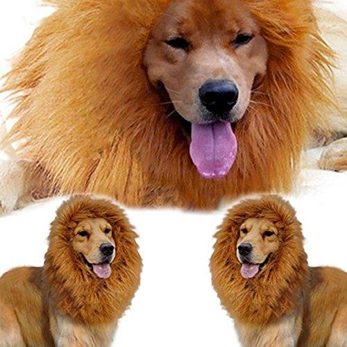 Wilk Große Haustierkostüm Löwenmähne Perücke für Hunde, Weihnachten, Halloween, Festival, ()