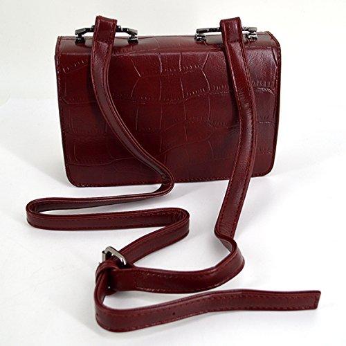 Millya , Damen Rucksackhandtasche, grau (Grau) - bb-01906-02C rot