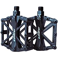 ProHomer Fahrradpedale, Fahrrad Pedalen 9/16 Zoll Achse CNC Aluminium Alu mit Abgedichtete Lager Rutschfest (1)