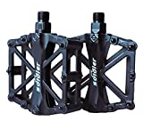 ProHomer Fahrradpedale, Fahrrad Pedalen 9/16 Zoll Achse CNC Aluminium Alu mit Abgedichtete Lager Rutschfest, Rennrad Pedale für Universell BMX Mountain Bike Rennrad Trekkingrad (Schwarz)