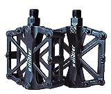 Pedales de Bicicleta, Pedals Impermeable 9/16 Pulgadas con Sellado Antideslizante Durable / Herramienta de Instalación Gratuita, para Bicicleta de Montaña BMX Universal Bike Bike Trekking Bike (negro)