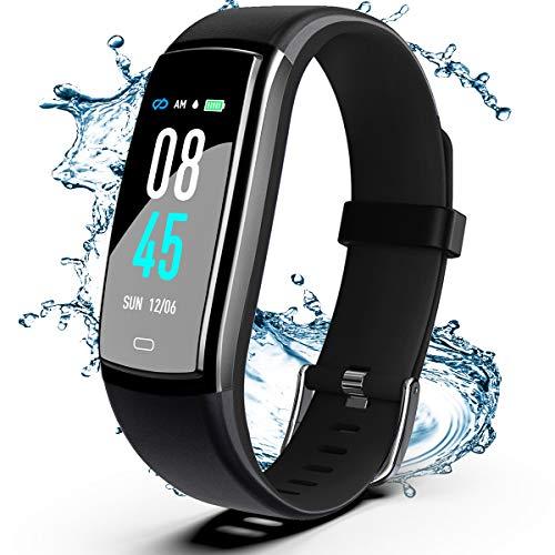 Winisok Fitness Armband mit Blutdruckmessung Pulsmesser, Fitness Tracker Uhr Wasserdicht IP67 Schrittzähler Uhr Stoppuhr Sport GPS Aktivitätstracker Schlafüberwachung Anruf SMS für Kinder Damen Männer
