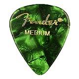 Fender 351 Shape Premium Medium Pick Green Moto- Set of 6
