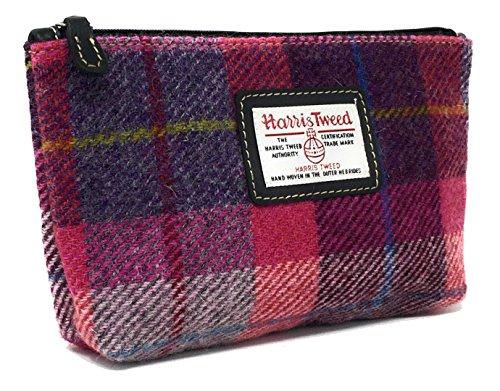 Damen Harris Tweed Kosmetiktasche in verschiedenen Farben und Designs (Rosa)