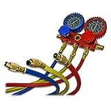 R134a Kühlmittel Kältemanometer V2 Montagehilfe mit 180 cm Schlauchlänge zur Klimaanlagenwartung