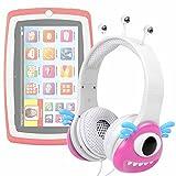 DURAGADGET Cuffie/Auricolari Bambini per Tablet Lisciani Giochi Mio Tab Laptop Evolution HD, Special Edition - 57474 - Design Mostro Rosa