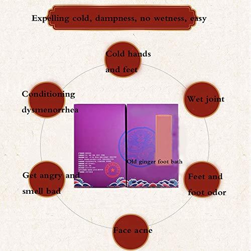Ginger Foot Effervescent Tablet Fußpflege Schwellungshemmende Den Stoffwechsel Müdigkeit Vor Und Verbessert Den Schlaf,Purple -