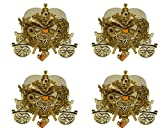 #10: Majik Designer Jewellery Box, Heart Shape Box for Multipurpose Use, Home Decoration Items, Best Gift Purposes for Girls and Women, Golden, 45 Gram, Set of 4, Pack of 1