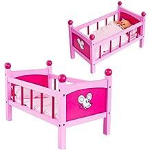 Babypuppen & Zubehör Bettwäsche Holz Puppen Bett Holzbett Kinder Spielzeug Gitterbett Puppen & Zubehör Puppenbett