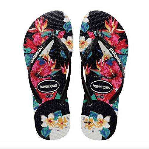 Havaianas-Flip-Flops-Slim-Tropical-Floral-Flip-Flops-Black
