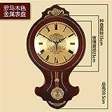 FortuneVin Wanduhr Bad Wanduhr mit Wanduhren lautlosem Uhrwerk Kein nerviges Ticken Metall Holz- Antike Mute Quarzuhrwerk Einfache Kreative Pendeluhr