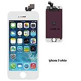 SUNTON LCD Display Touchscreen Ersatz Bildschirm Front Komplettes Glas für iPhone 5 Weiß