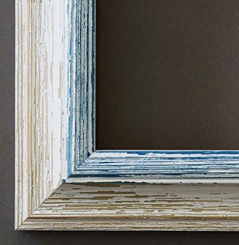 Spiegel Wandspiegel Badspiegel Flurspiegel Garderobenspiegel - Über 200 Größen - Bari Beige Weiß Blau 4,2 - Außenmaß des Spiegels 60 x 80 - Wunschmaße auf Anfrage - Antik, Barock