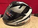 LS2 Full Face Designer Helmet FF-352 Dyno Black Silver-Large - 58 Cms