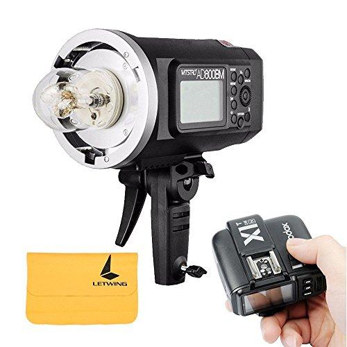 Godox AD600BM Blitz manuelle Bowens Mount Power Outdoor Portable GN87 600W HSS 1 / 8000s 2.4G drahtlose 8700mAh Lithium-Akku Outdoor Studioblitz + X1T-N Flash-Trigger-Sender für Nikon DSLR-Kameras 600w Flash