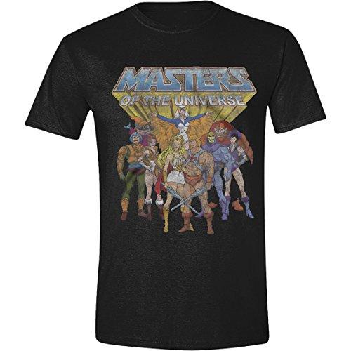 Masters of the Universe - Classic Characters Herren T-Shirt - Schwarz, Große:S (Schwarz Adam Shirt)