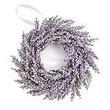 Deko Lavendelkranz auf Rattan, violett, Ø 25 cm - Künstlicher Kranz /...