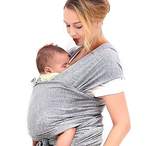 COSY bébé Wrap pour nouveau-nés, nourrissons et les tout-petits | haute qualité Porte-bébé 3positions de transport | Coton doux et confortable Spandex lavable en machine | infinity 100% garantie | avec DVD d'instructions