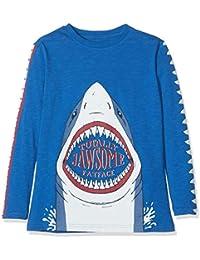 Fat Face Shark Sleeve Graphic, Camiseta de Manga Larga para Niños