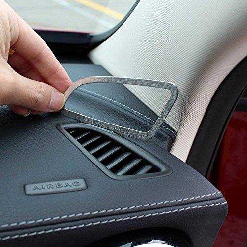 Car-styling Accessoires Alliage d'aluminium Tableau de bord Climatisation Outlet Cover Trim