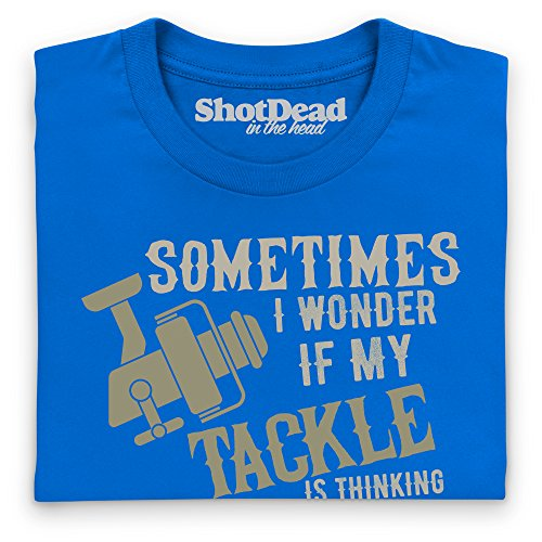 I Wonder If My Tackle T-Shirt, Herren Royalblau