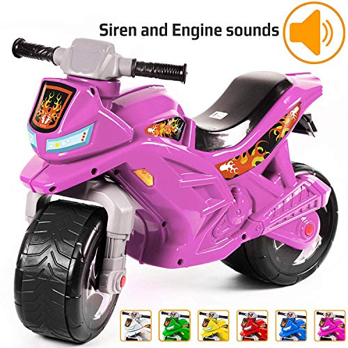 OneLink Ride-on Push Bike for Toddlers and Kids 2-5 Years Old Plastic Balance Bike Outdoor & Indoor Stroller Toy Motorcycle 2 Wheel Walking Activity Trainer Lightweight Washable. (Purple)
