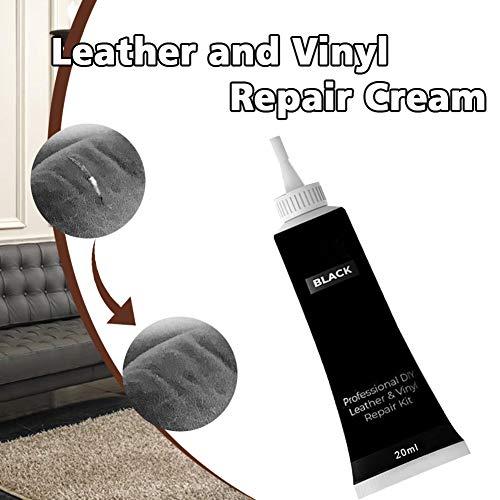 Jioty Crema Professionale Fai da Te per Riparazione di mobili, divani e sedili Auto Nero