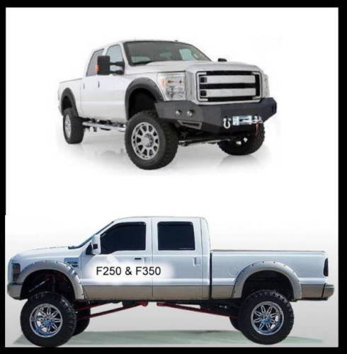 Pocket Style radabdeckung - Allargamento dei parafanghi Ford F250 F350 Super Duty BJ: 08 - 10 - Super Duty Parafanghi