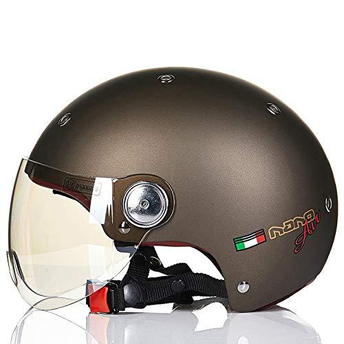 Mdsfe Mezzo casco per uomo e donna per quattro stagioni mezzo casco coperto per casco per auto elettrica, protezione solare estiva leggeracasco da mountain bike