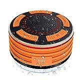 Dusche-Lautsprecher, HHX wasserdichter Bluetooth 4.0-Lautsprecher mit starkem Saugnapf, eingebautem Mikrofon, FM-Radio und mehreren LED-Farblicht Mini-tragbaren Lautsprecher für, Dusche, im Freien