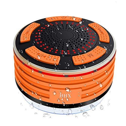 Ducha Altavoz, HHX Impermeable Bluetooth 4.0Altavoz con Fuerte Ventosa, micrófono Integrado, Radio...