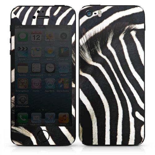 Apple iPhone 4 Case Skin Sticker aus Vinyl-Folie Aufkleber Zebra Dschungel Animal Print DesignSkins® glänzend