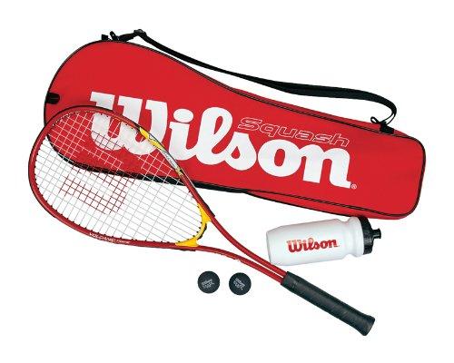 Wilson Squashset Squash Starter Kit, rot