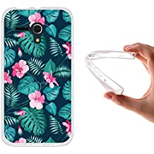 Funda Alcatel One Touch Pop D5, WoowCase [ Alcatel One Touch Pop D5 ] Funda Silicona Gel Flexible Flores Tropicales 2, Carcasa Case TPU Silicona