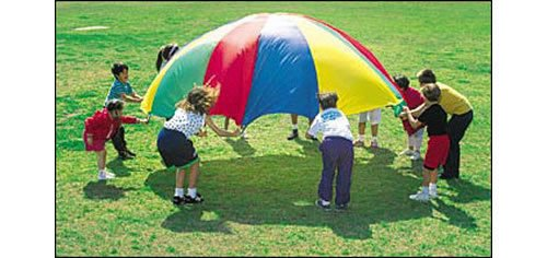 PLAY PARACHUTE 3.5m 12ft - KIDS PARTY GARDEN GAMES ETC