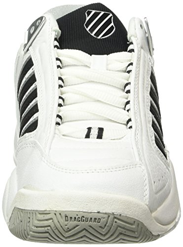 K-Swiss Performance Defier RS, Chaussures de Tennis Homme Blanc (White/black)