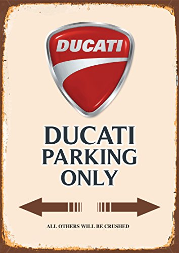 Ducati Parking only blechschild auto motorrad park schild