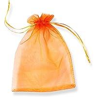 PLECUPE 100 Pezzi Trasparente Organza Bag Sacchetti Bustine, 7x9cm (2.8x3.5 Pollici) Sacchettino Sacchetto Coulisse…