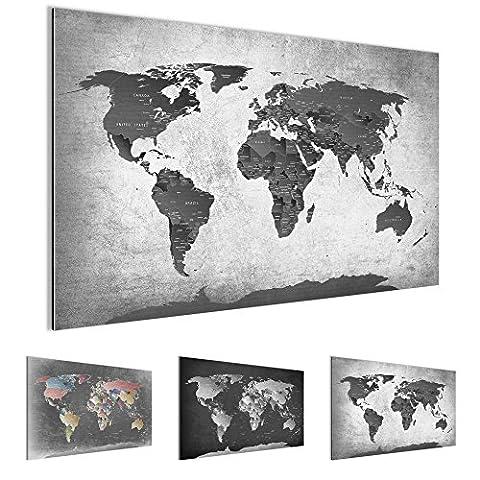 Bilder – Wandbild - Vlies Leinwand - 70 x 40 cm - Weltkarte Bild - Kunstdrucke – mehrere Farben und Größen im Shop - Fertig Aufgespannt !!! 100% MADE IN GERMANY !!! - Kontinent – Welt – Landkarte 107614c