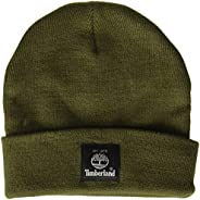 Timberland mens Short Watch Cap with Woven Label Cold Weather Hat