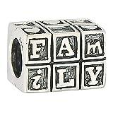 Shining Charm plata de ley 925'Familia Encanto Carta Bead Fit europeo pulseras