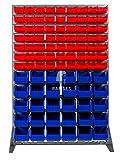 EisenRon DS-tec - Boxenregal mit 42 Lagerboxen Höhe: 156 cm Breite: 102,5 cm