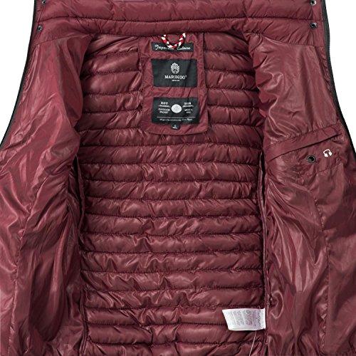 Marikoo Damen Übergangs-Jacke Steppjacke Samtpfote Bordeaux Gr. XS - 4