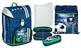Undercover GmbH FCPR7552, ensemble scolaire complet - mallette, sac, trousse et porte-bébé - toutes les fournitures scolaires utiles pour votre enfant - série 'Le football ma passion'