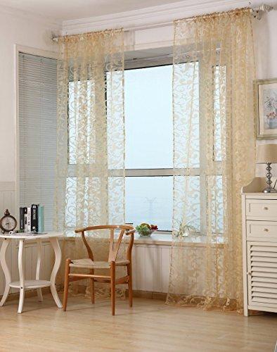 Klebeband-Plissee-Typ-Garn Cortinas Wohnzimmer Schlafzimmer Fenster Tüll-Vorhang modern, mit Luxus-Vorhänge, gelb, 1PCS W350cm X H260cm