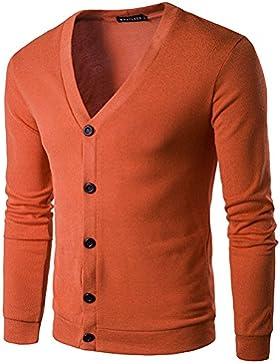 COCO clothing Otoño Primavera Cardigan Hombre Cuello en V Suéter Tops Blusa Casual Prendas de Punto Camiseta Jerséis...